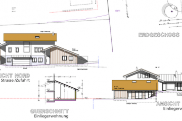 Architekturplan Hausbau