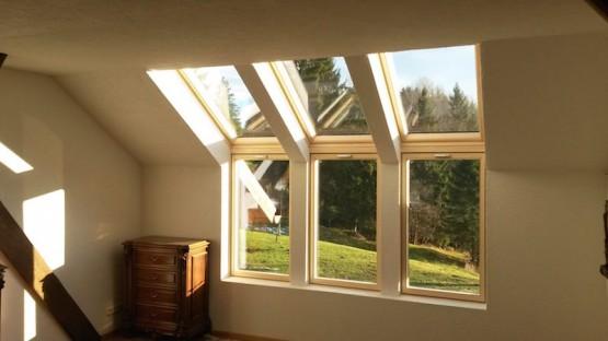 Dachfenster Einbau von Innen